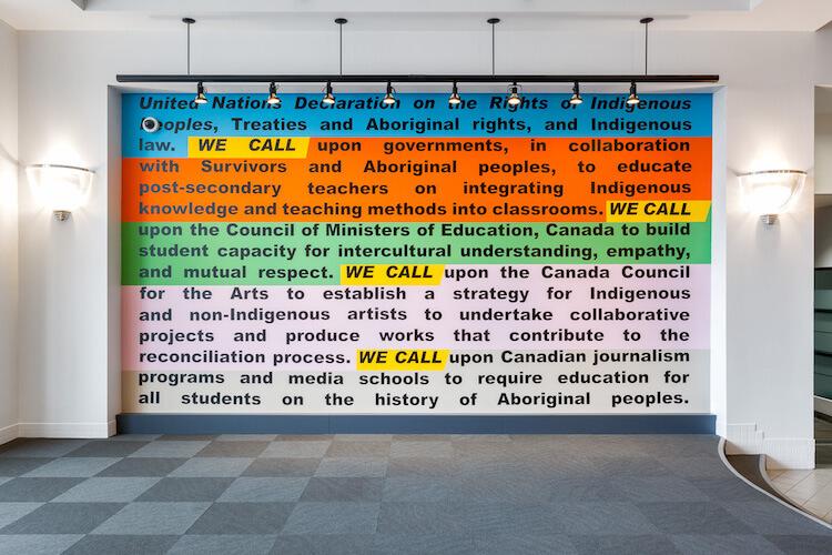 WE CALL art installation