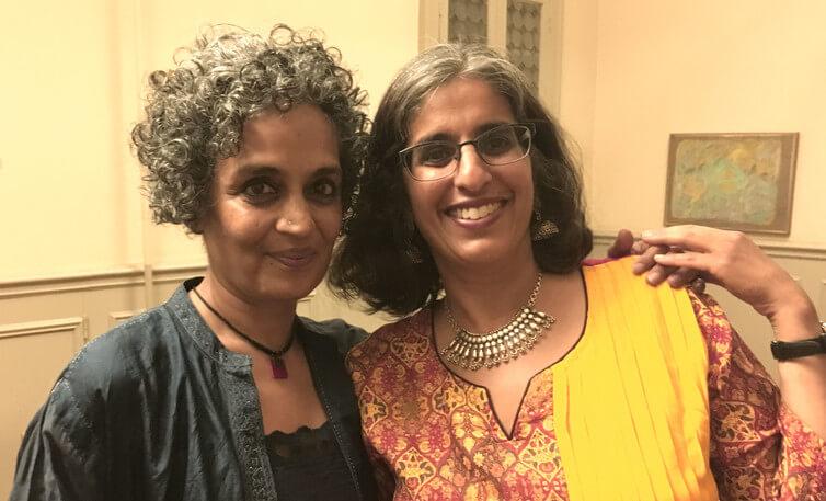 Arundhati Roy with Anjula Gogia.