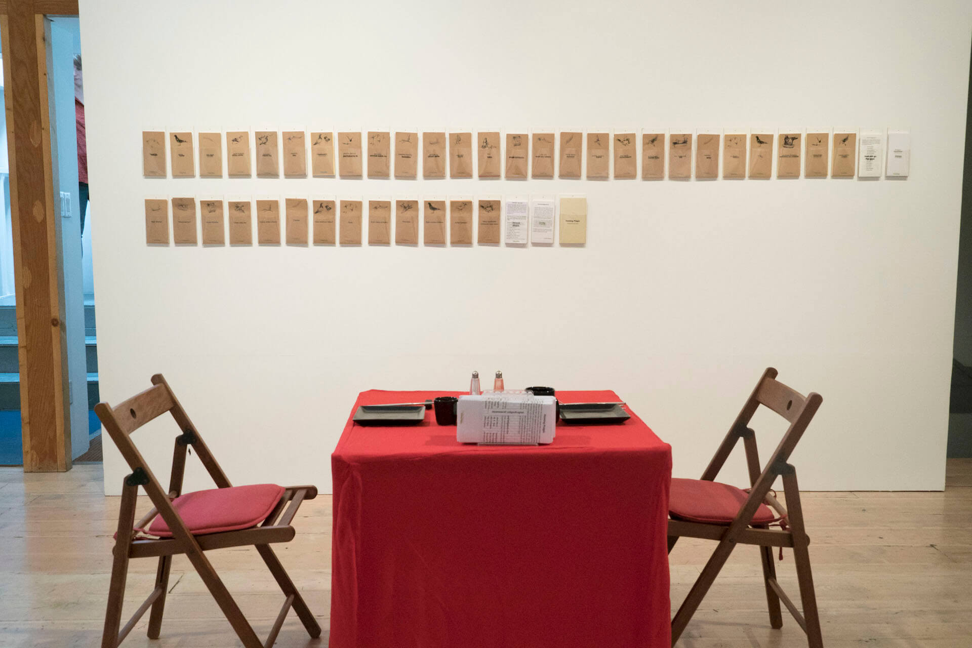Haruko Okano. Homing Pidgin. 2006/2017. Installation view