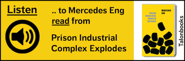 Merceds Eng reading from Prison Industrial Complex Explodes