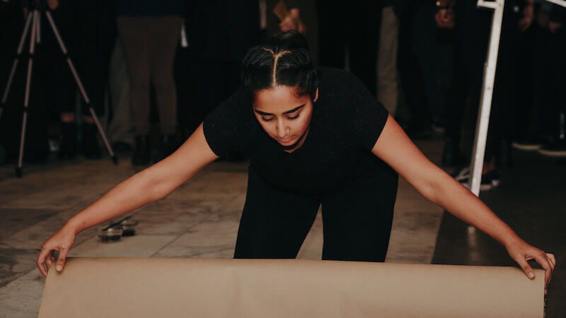 Artist Simranpreet Anand. Performance stills. Image #5. Photo by Scott Little.