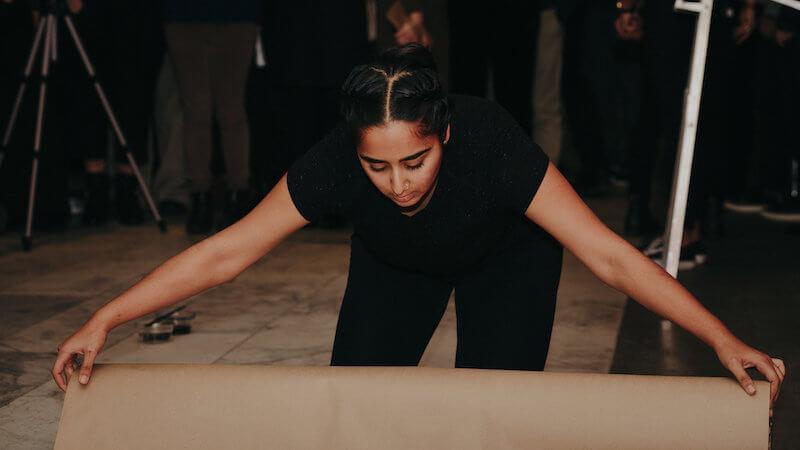 Artist Simranpreet Anand. Performance stills. Image #5. Photo by Scott Little.