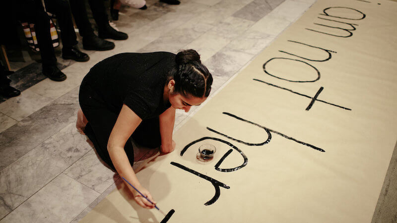Artist Simranpreet Anand. Performance stills. Image #4. Photo by Scott Little.