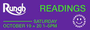 Rungh Readings at Vancouver Art Book Fair - October 19 & 20, 2019