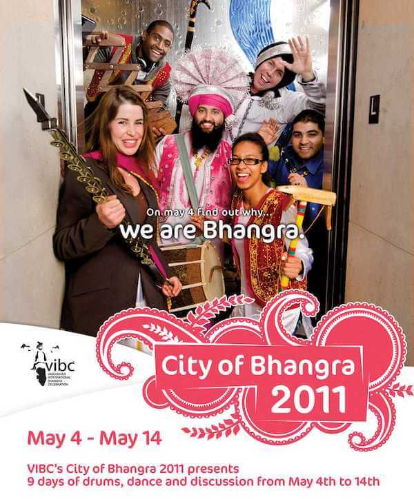 We are Bhangra - poster for City of Bhangra festival 2011