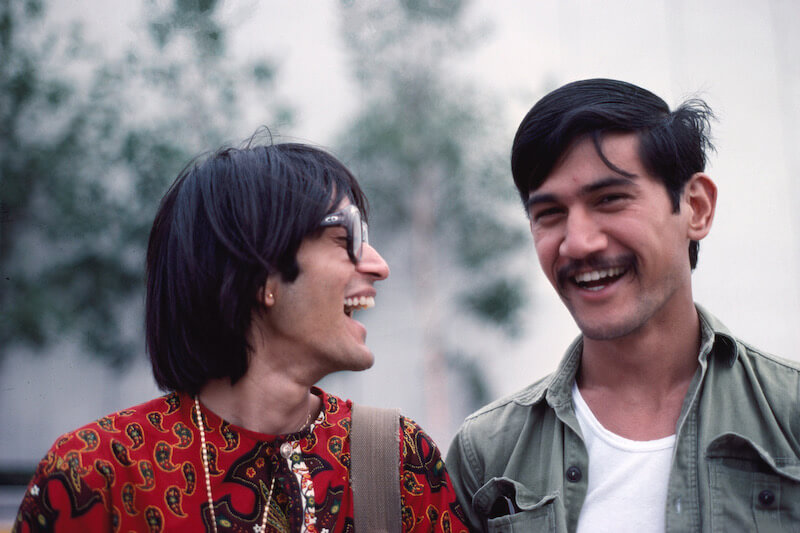 with Fakroon Lakdawalla, one my closest and virtually only South Asian gay friends, Montreal c. 1973