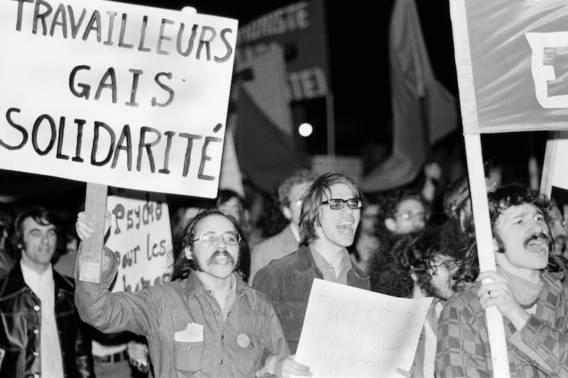 Early Pride march, Montreal, c. 1972