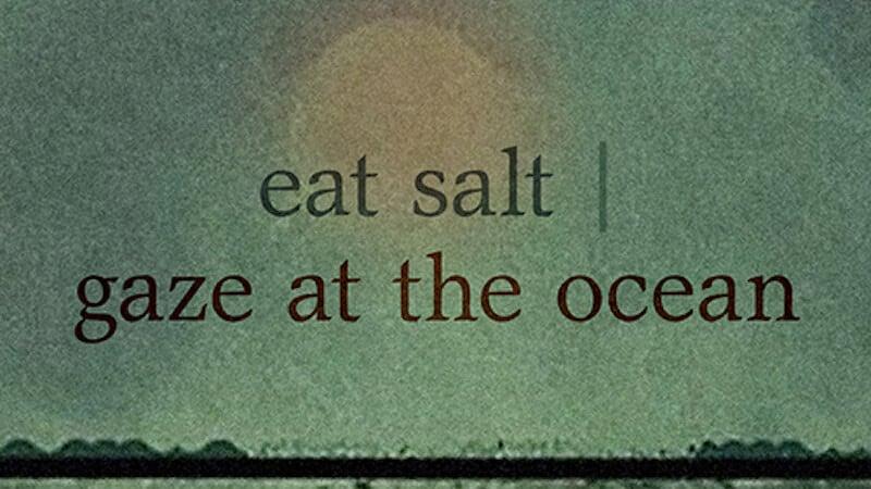 eat salt/ gaze at the ocean