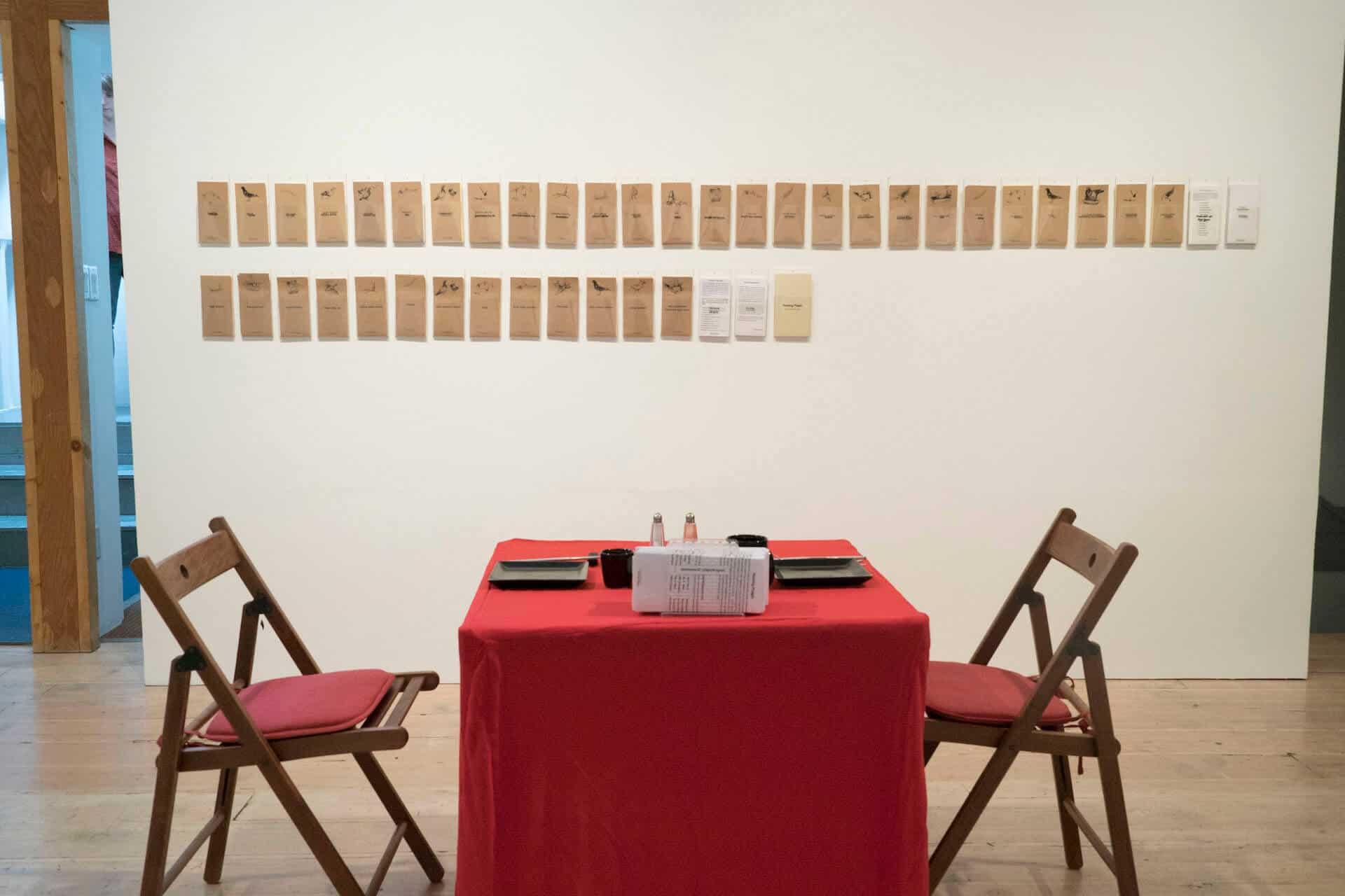 Haruko Okano. Homing Pidgin. 2006/2017. Installation view