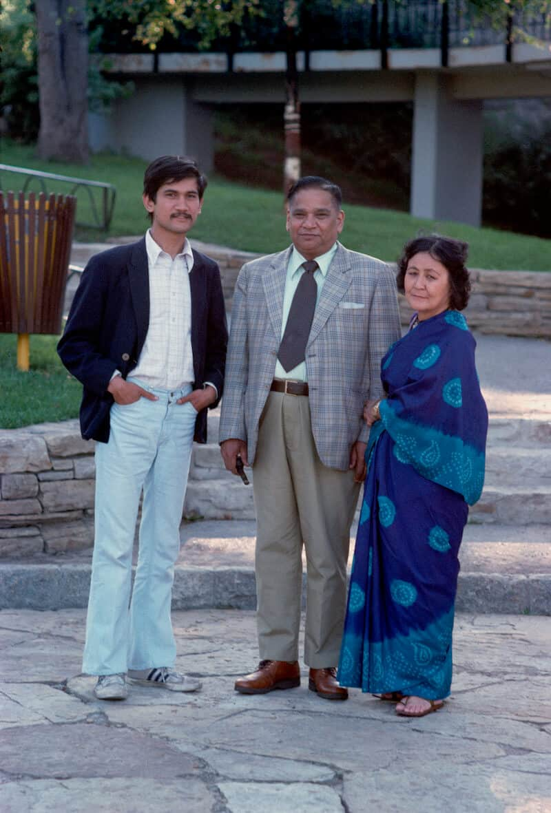 Sunil Gupta with parents, Montreal 1971.