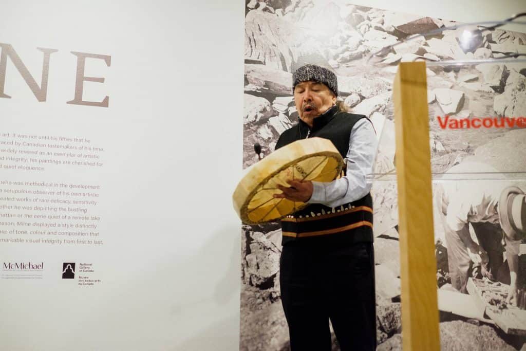 Ayumi Goto and Peter Morin: how do you carry the land? Chief Bill Williams, Community Opening, July13, 2018 Photo: Pardeep Singh, Vancouver Art Gallery