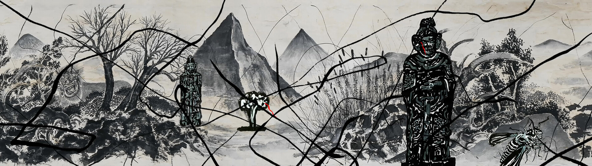 Sun Xun, Mythological Time, 2016, 2-channel colour video animation with sound, Collection of the Vancouver Art Gallery, Gift of The Solomon R. Guggenheim Foundation in connection with The Robert H. N. Ho Family Foundation Chinese Art Initiative