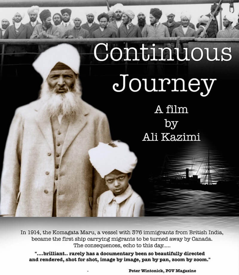 Continuous Journey - A Film by Ali Kazimi - Poster