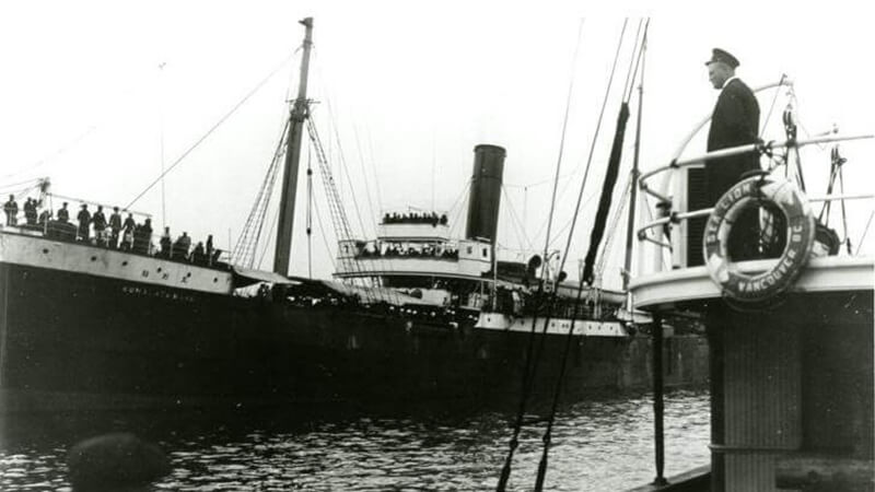 Komagata Maru - Immigration Officer Watching from the Sea Lion