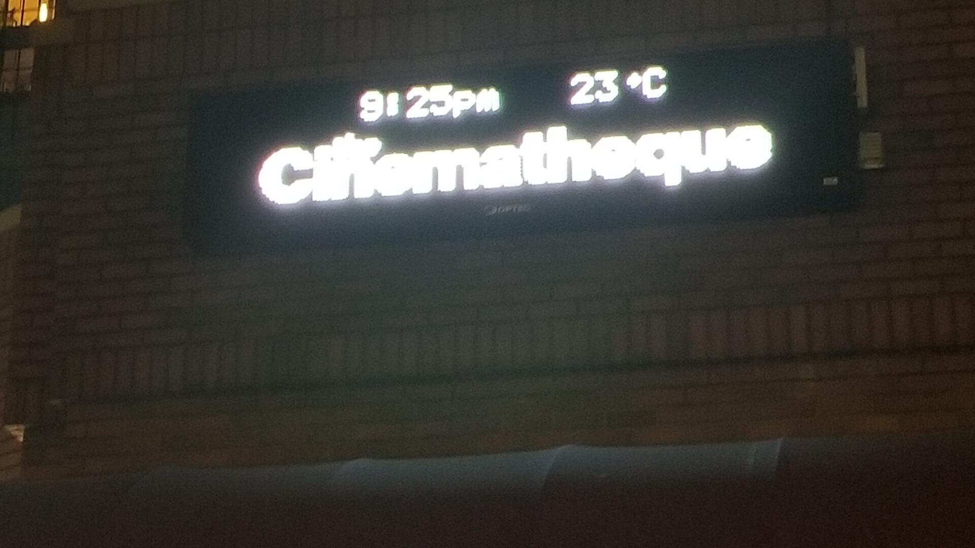 Cinematheque notice board